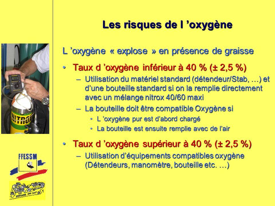 Les risques de l 'oxygène