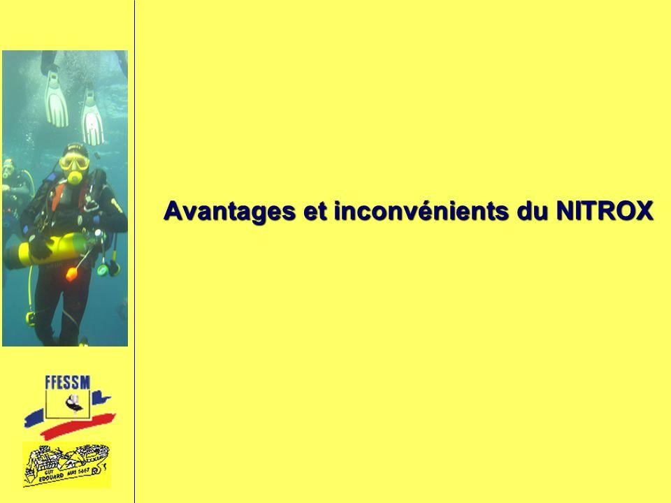 Avantages et inconvénients du NITROX
