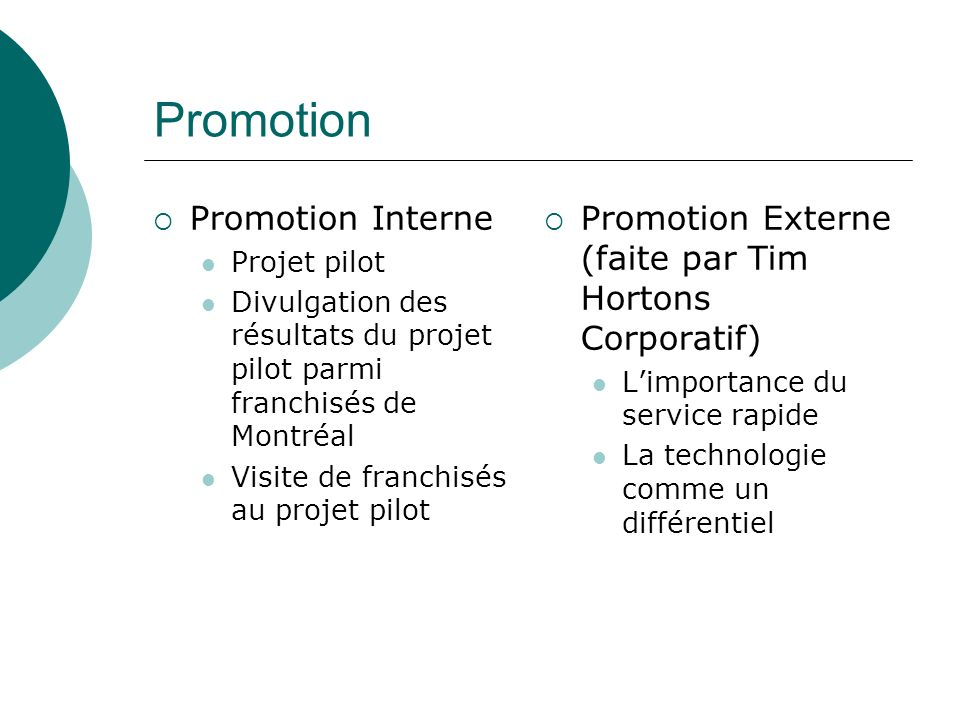 Promotion Promotion Interne
