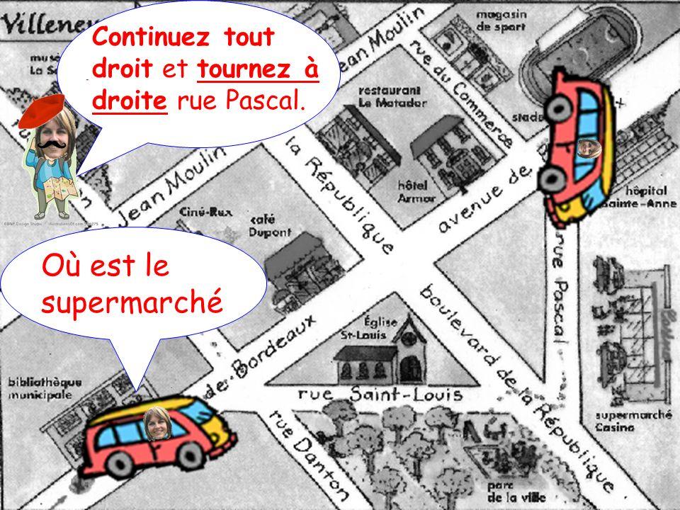 Continuez tout droit et tournez à droite rue Pascal.