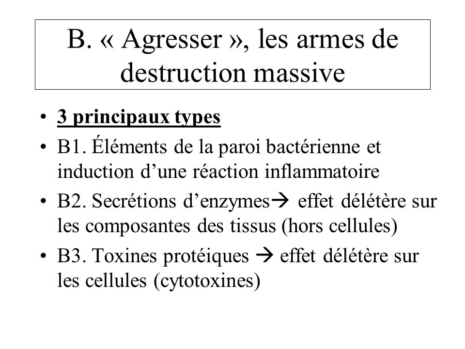 B. « Agresser », les armes de destruction massive