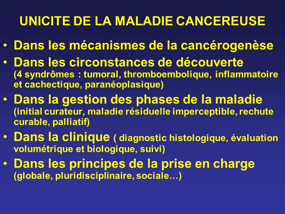UNICITE DE LA MALADIE CANCEREUSE