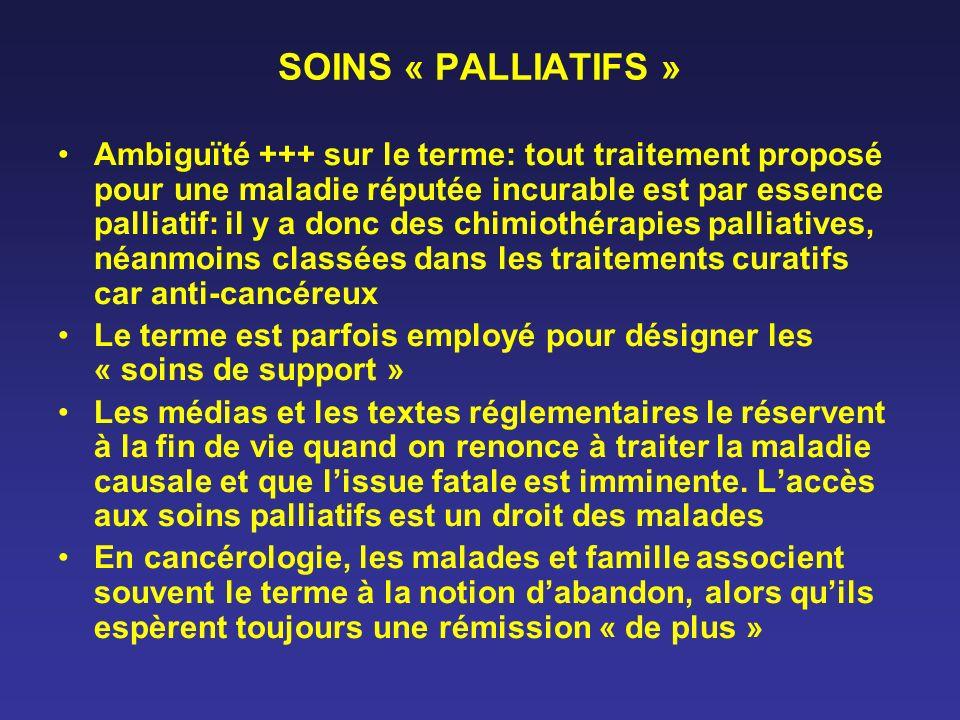 SOINS « PALLIATIFS »