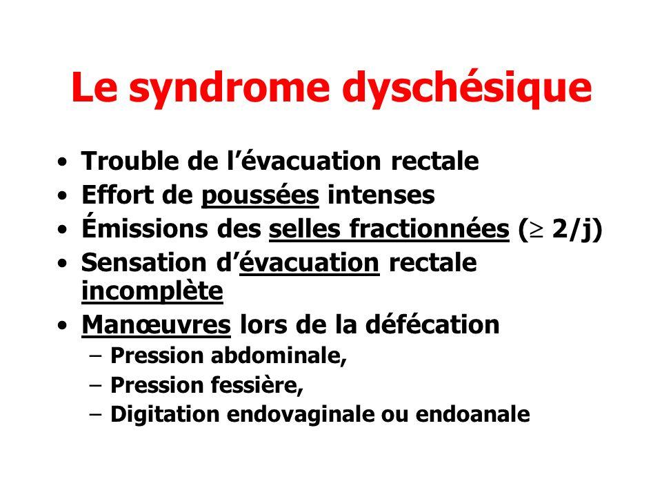 Le syndrome dyschésique