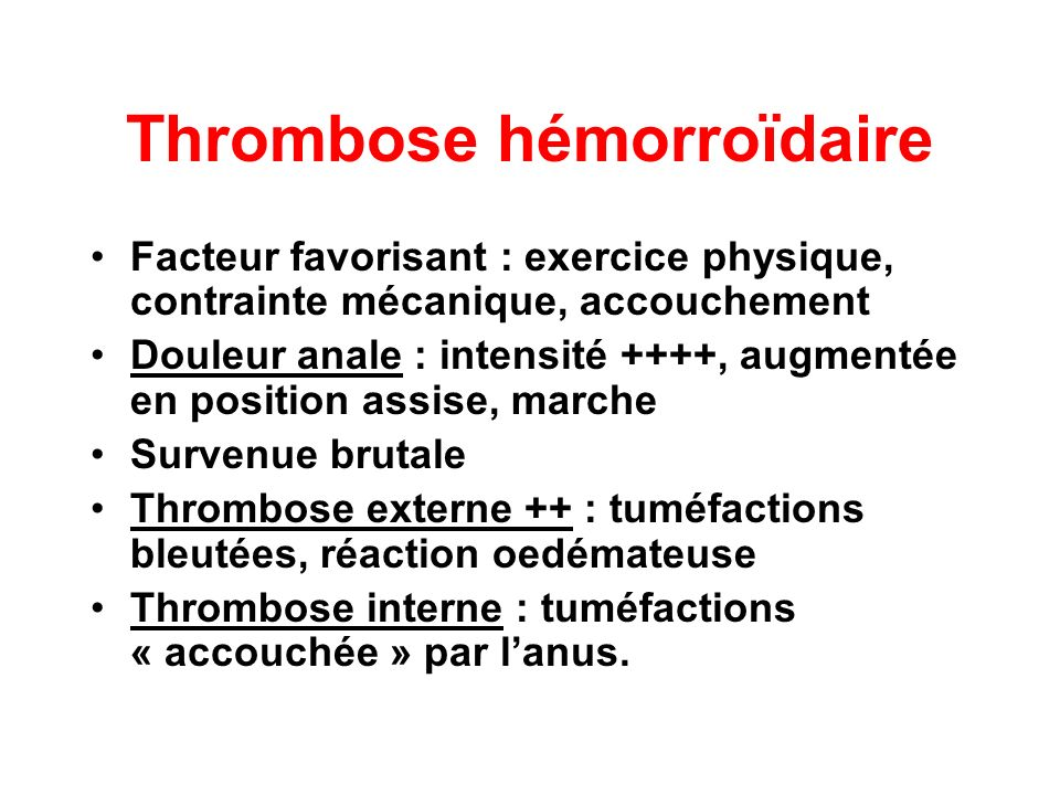 Thrombose hémorroïdaire