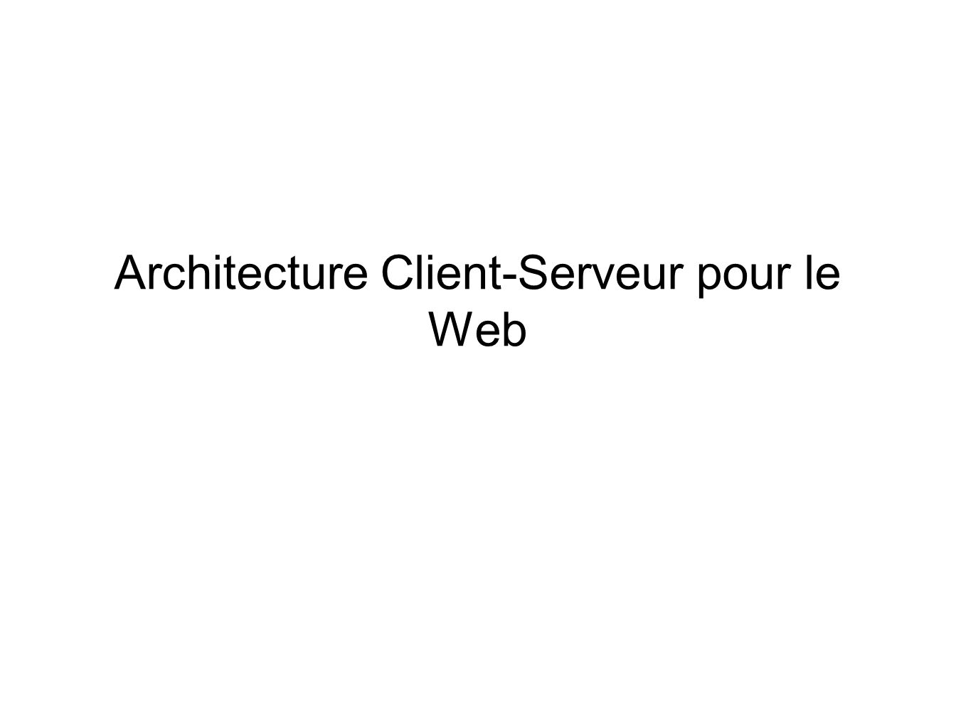 Licence miage technologies web licence miage ppt t l charger for Architecture client serveur