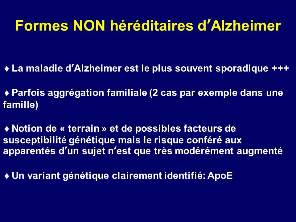 Formes NON héréditaires d'Alzheimer