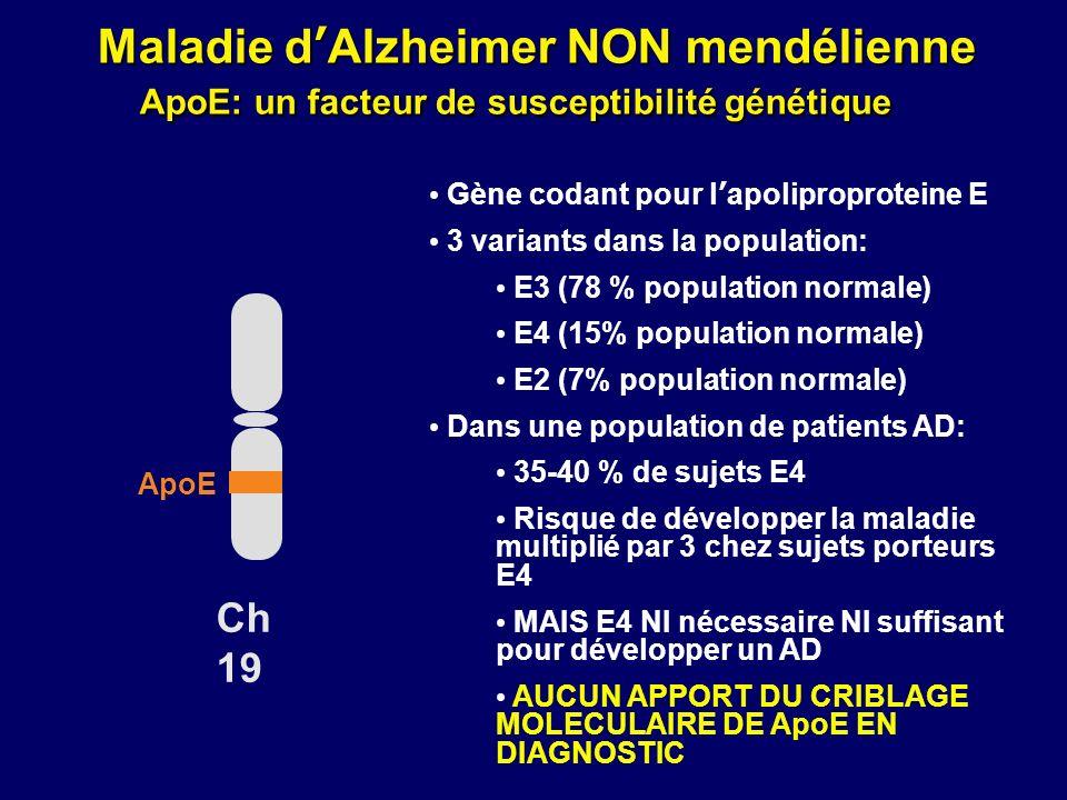 Maladie d'Alzheimer NON mendélienne