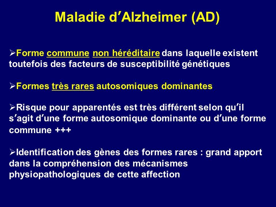Maladie d'Alzheimer (AD)