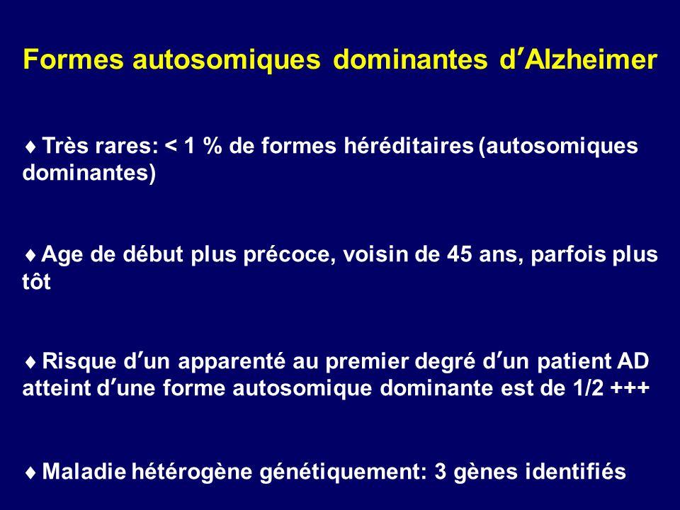 Formes autosomiques dominantes d'Alzheimer