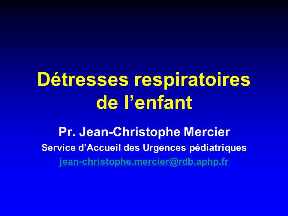 Détresses respiratoires de l'enfant