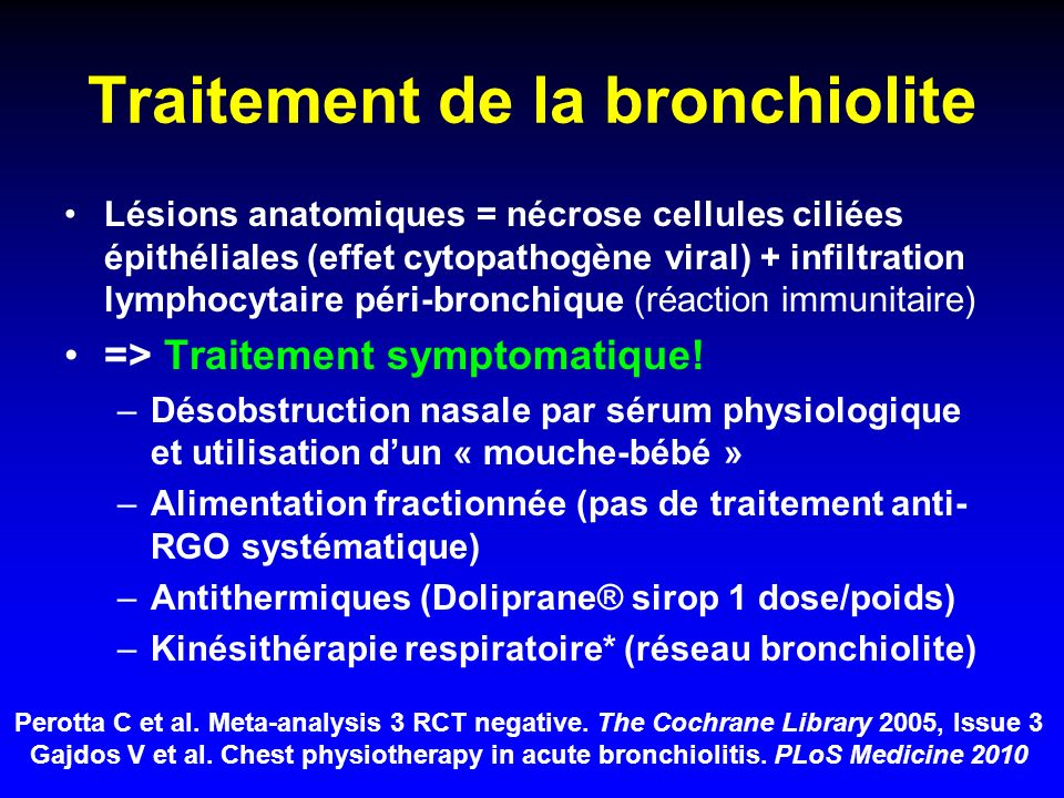 Traitement de la bronchiolite