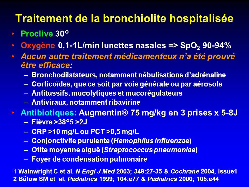 Traitement de la bronchiolite hospitalisée
