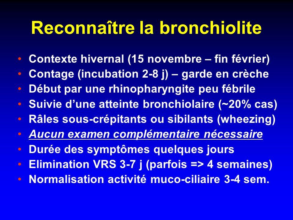 Reconnaître la bronchiolite