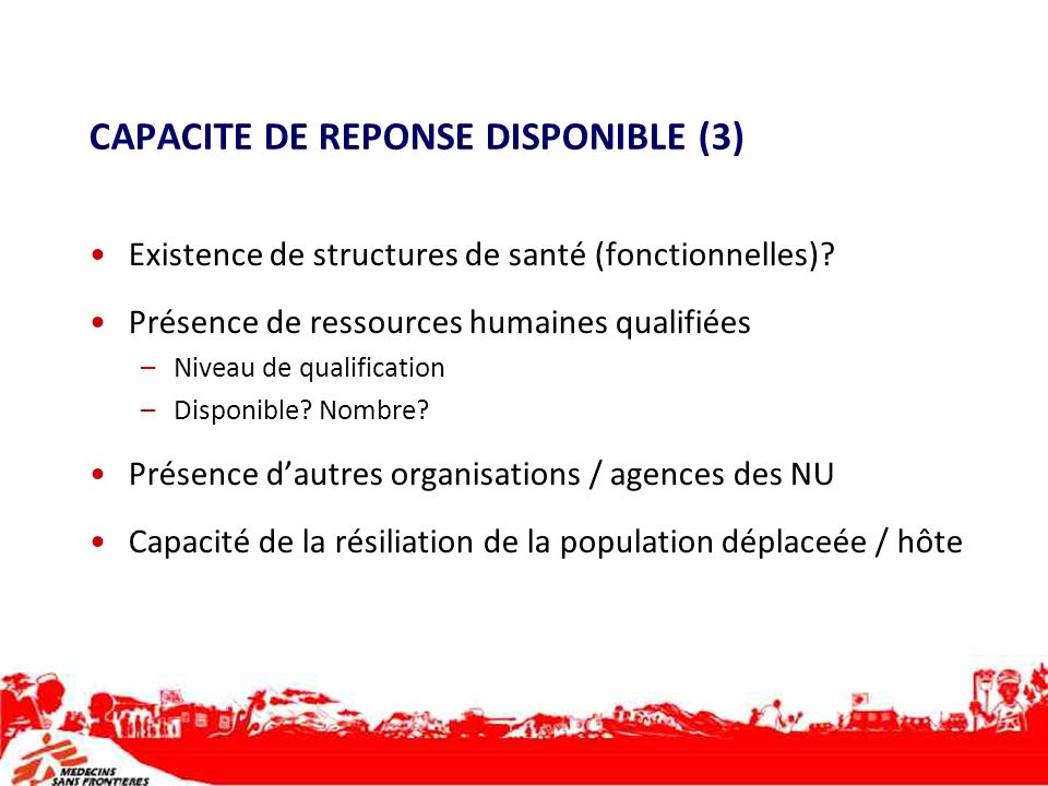 CAPACITE DE REPONSE DISPONIBLE (3)