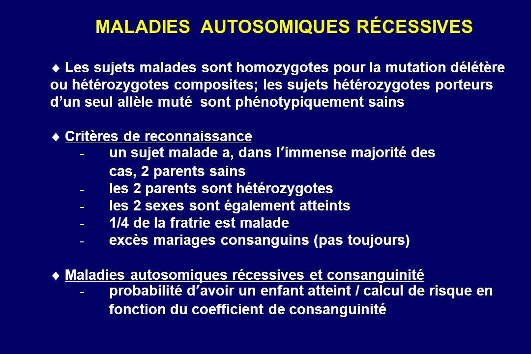 MALADIES AUTOSOMIQUES RÉCESSIVES