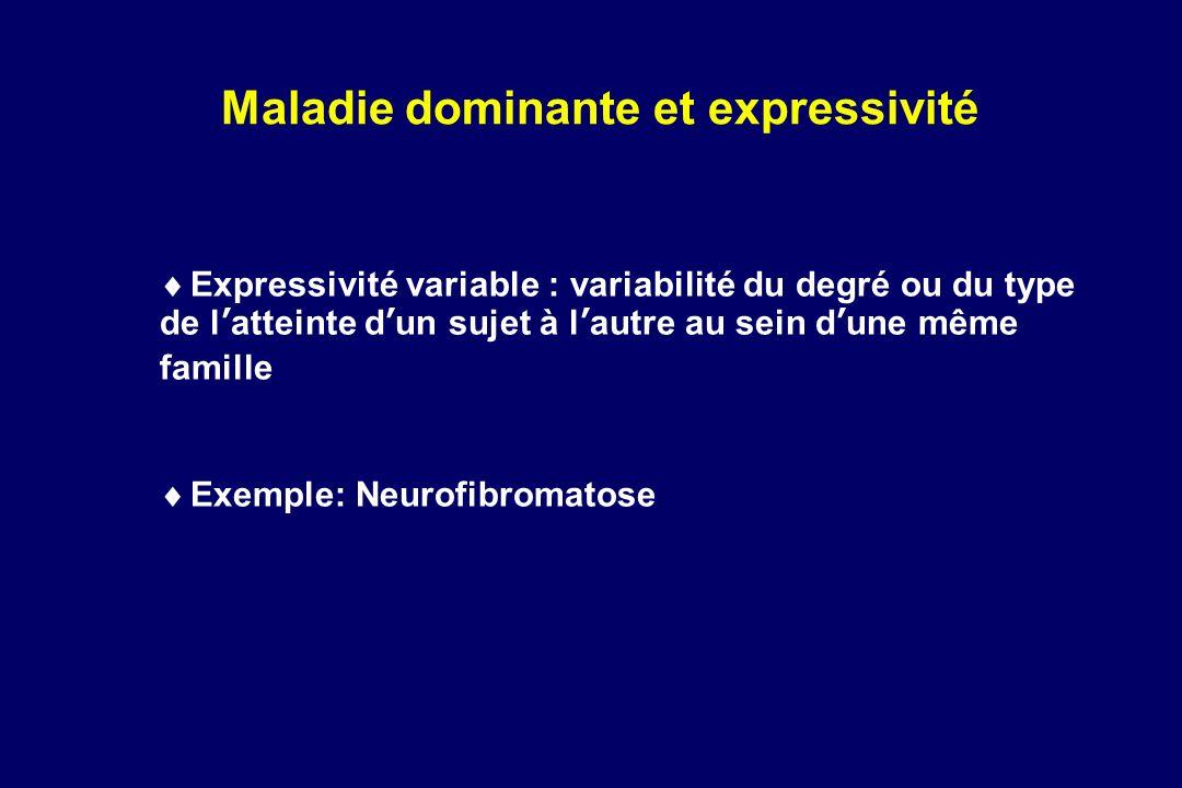 Maladie dominante et expressivité