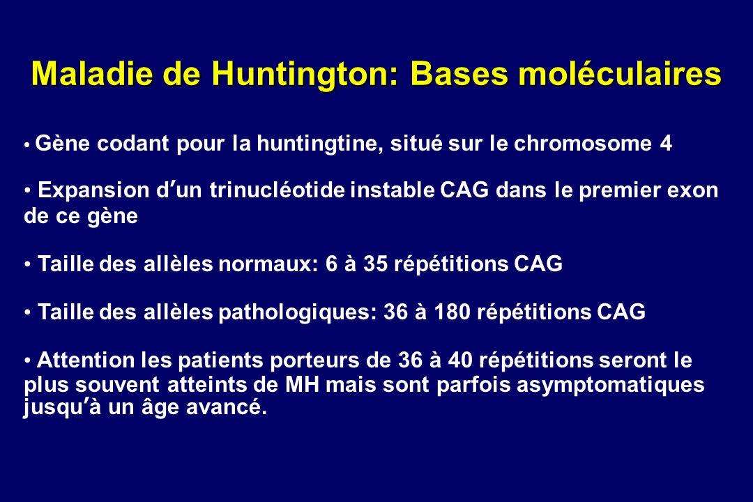 Maladie de Huntington: Bases moléculaires