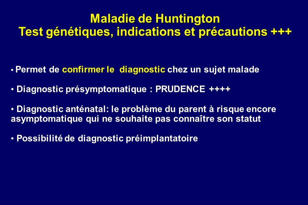 Test génétiques, indications et précautions +++