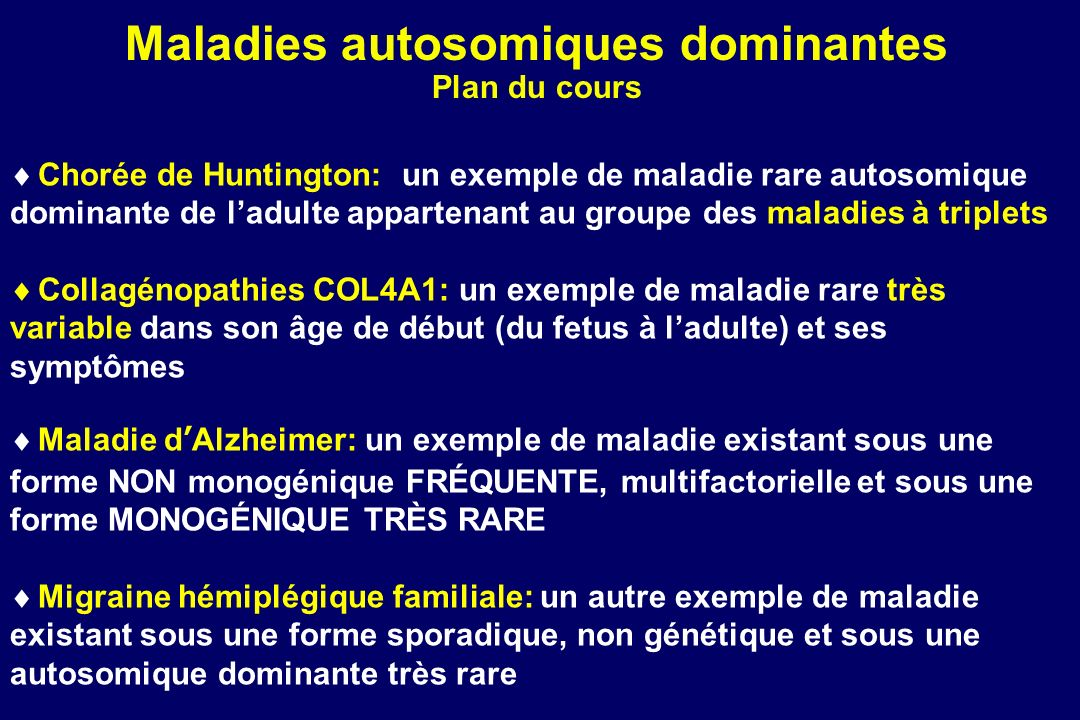 Maladies autosomiques dominantes