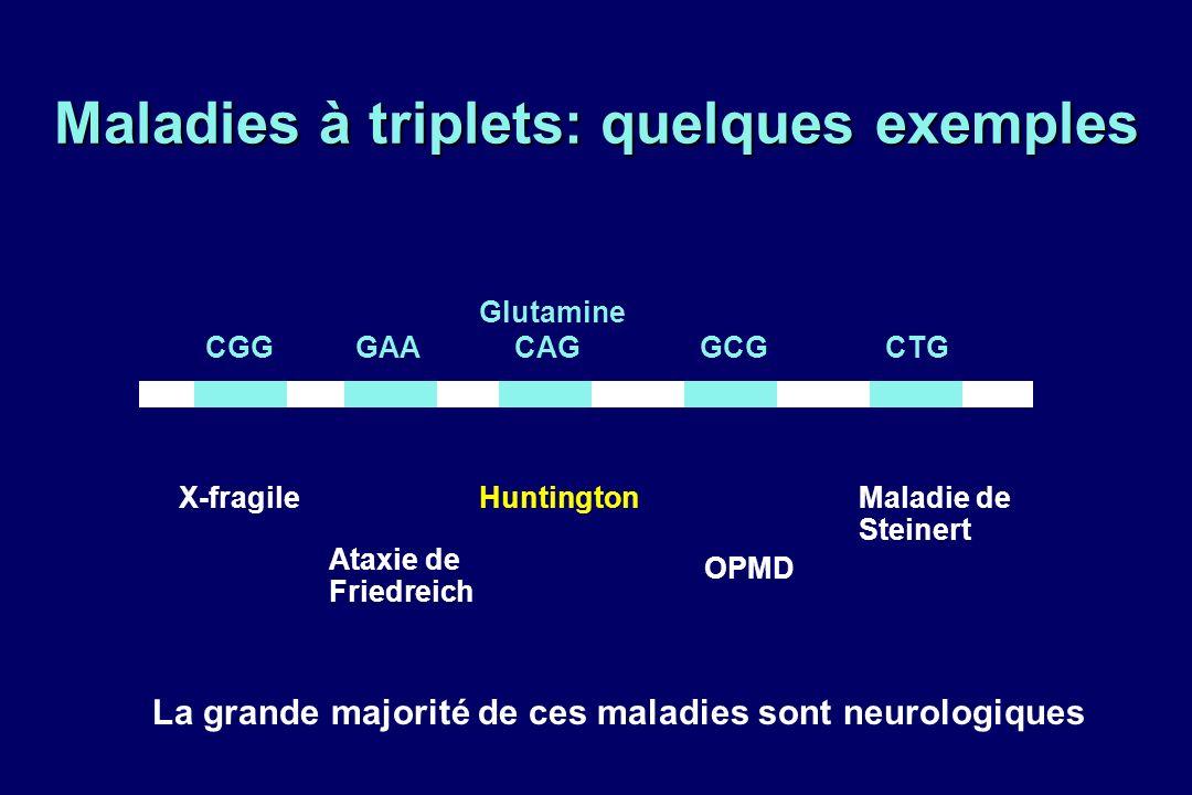 Maladies à triplets: quelques exemples