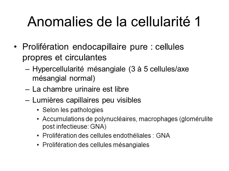 Anomalies de la cellularité 1