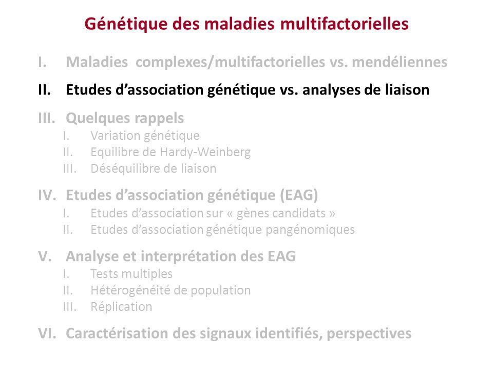 Génétique des maladies multifactorielles