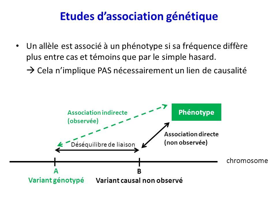 Etudes d'association génétique