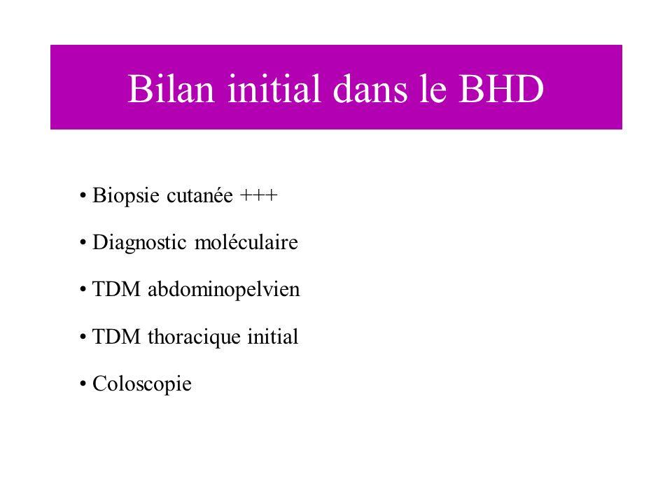 Bilan initial dans le BHD