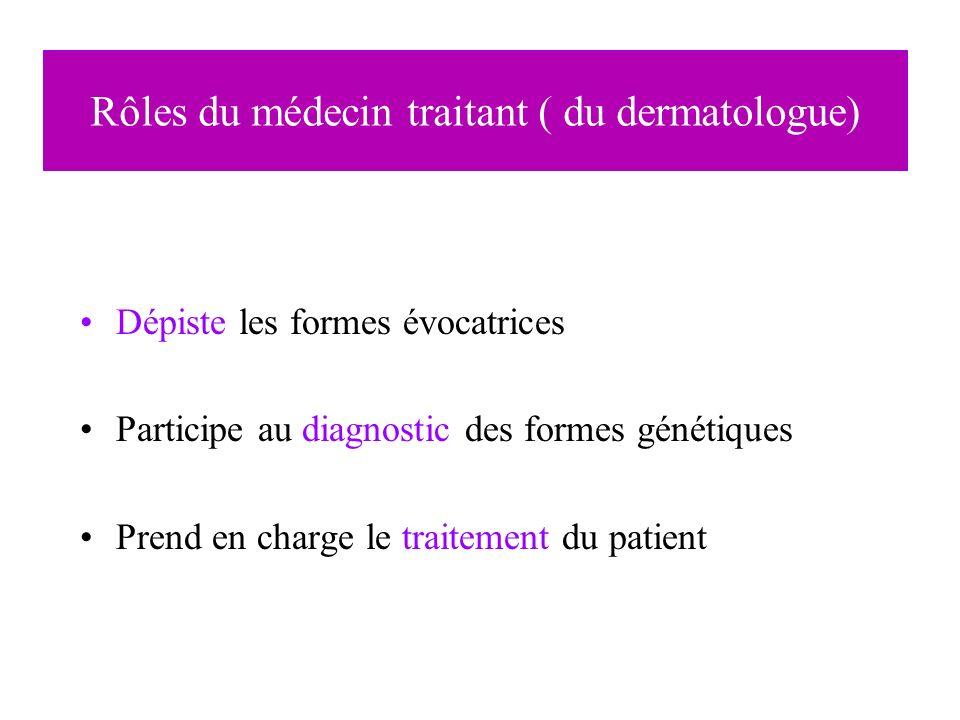 Rôles du médecin traitant ( du dermatologue)