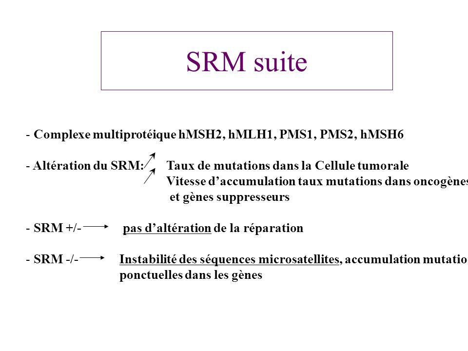 SRM suite Complexe multiprotéique hMSH2, hMLH1, PMS1, PMS2, hMSH6
