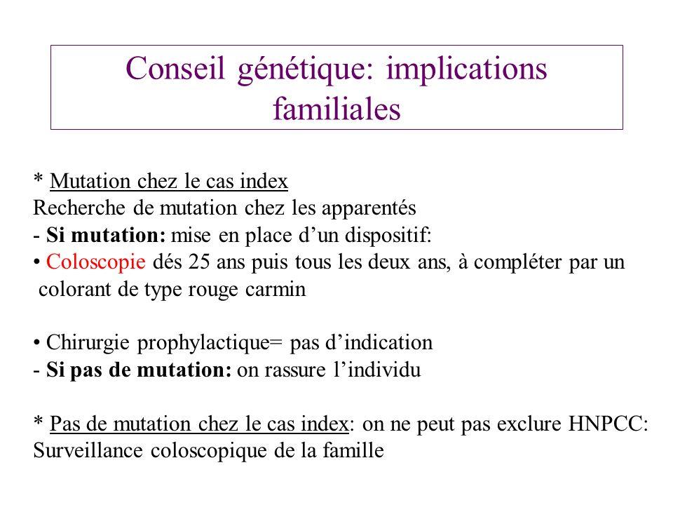 Conseil génétique: implications familiales