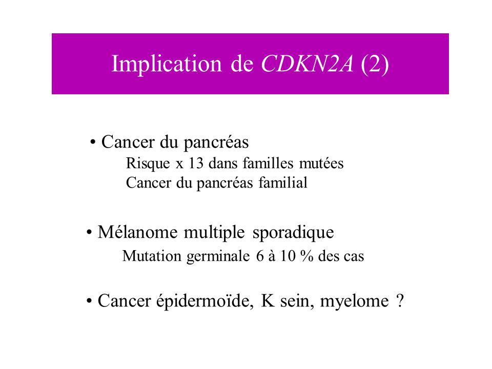 Implication de CDKN2A (2)