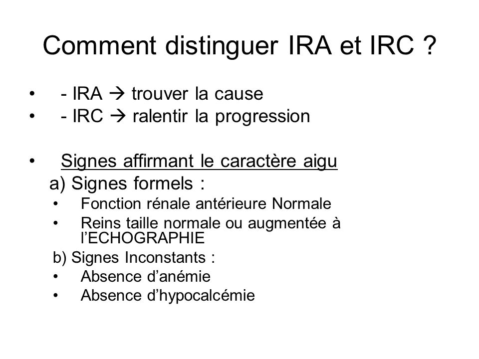 Comment distinguer IRA et IRC