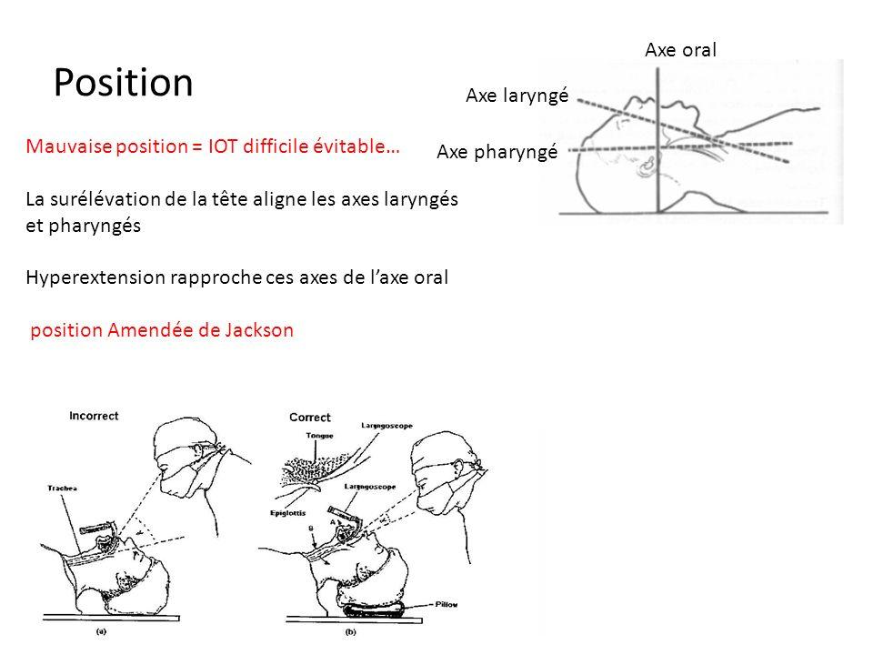 Position Axe oral Axe laryngé