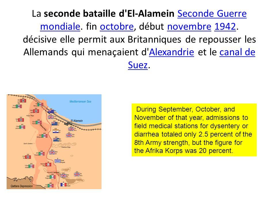 La seconde bataille d El-Alamein Seconde Guerre mondiale