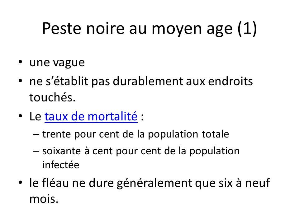 Peste noire au moyen age (1)