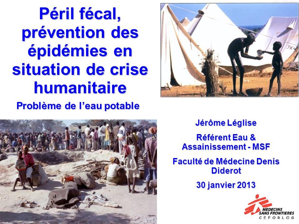 Référent Eau & Assainissement - MSF Faculté de Médecine Denis Diderot