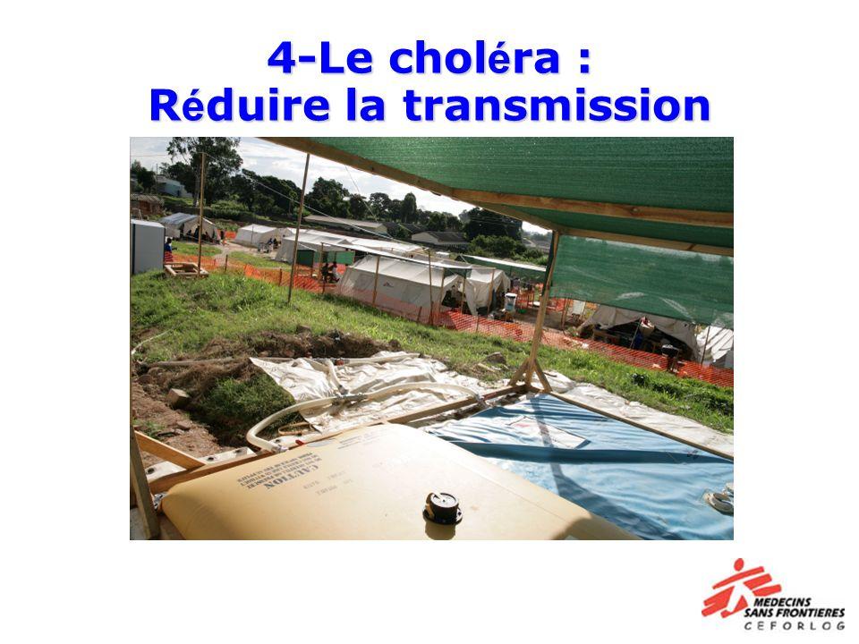 4-Le choléra : Réduire la transmission
