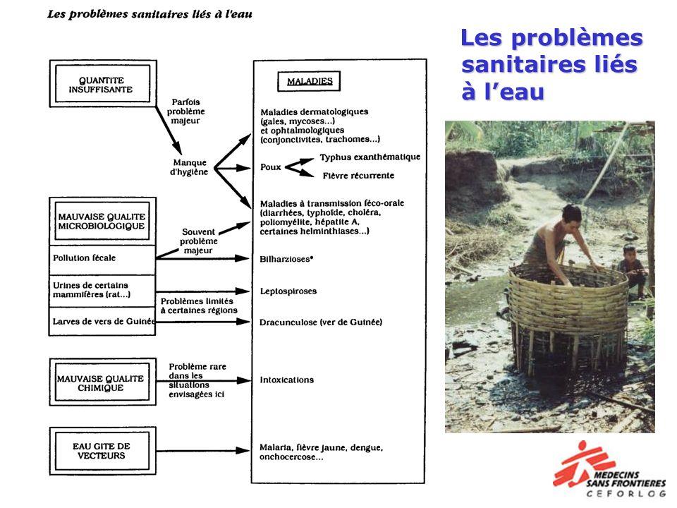 Les problèmes sanitaires liés à l'eau