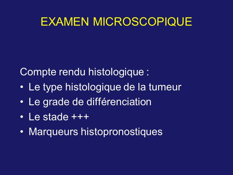 EXAMEN MICROSCOPIQUE Compte rendu histologique :