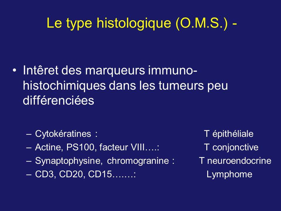 Le type histologique (O.M.S.) -