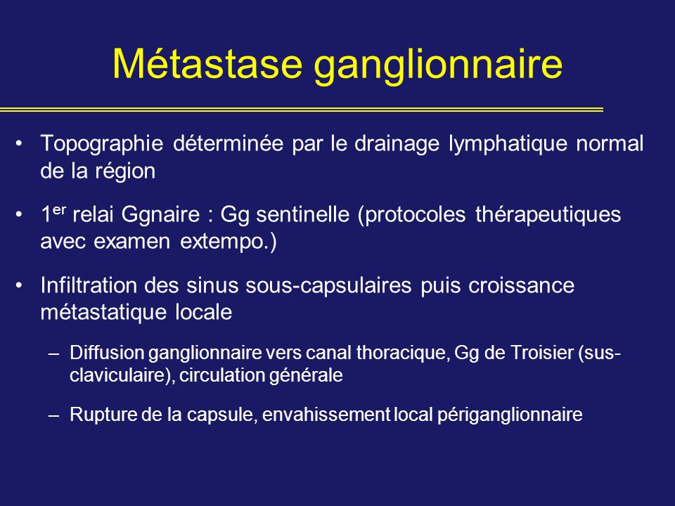 Métastase ganglionnaire