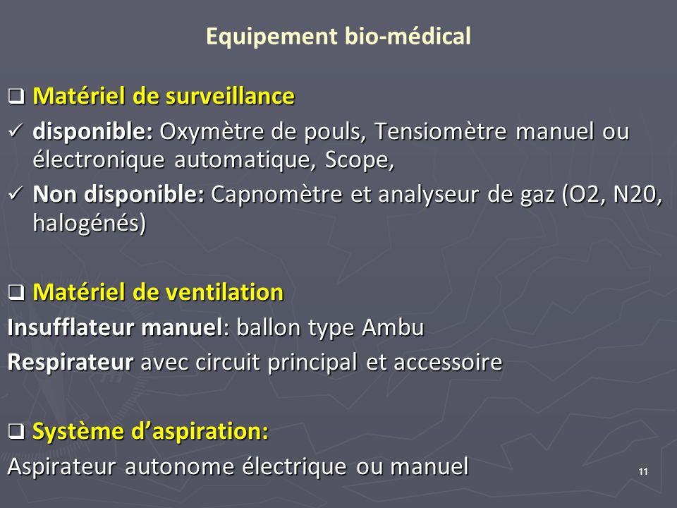 Equipement bio-médical