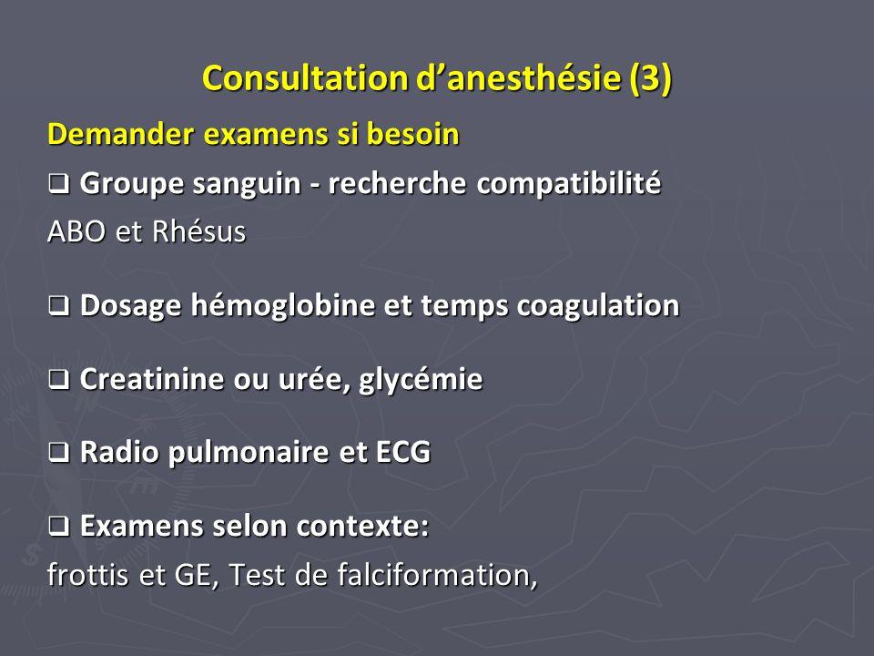 Consultation d'anesthésie (3)