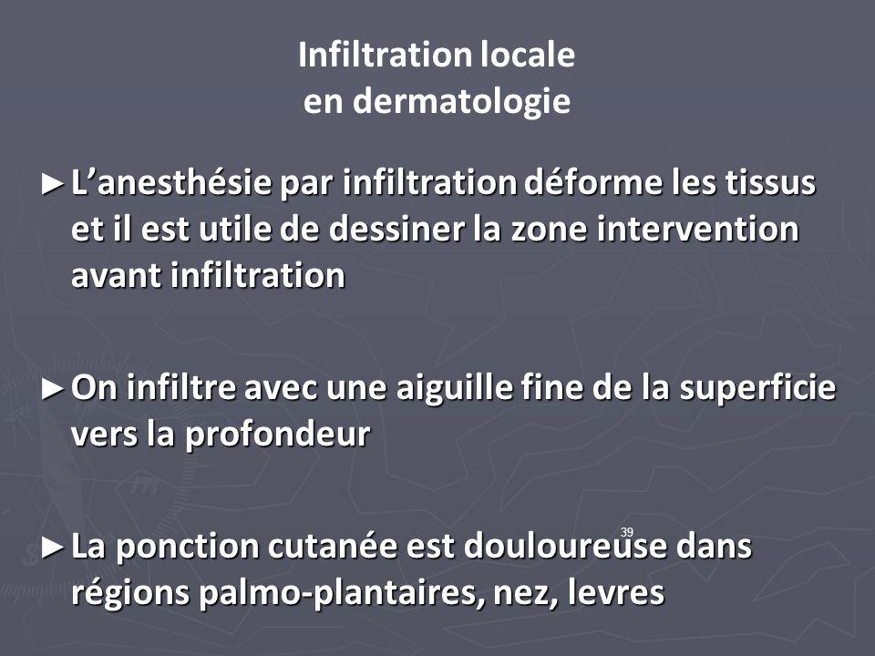 Infiltration locale en dermatologie