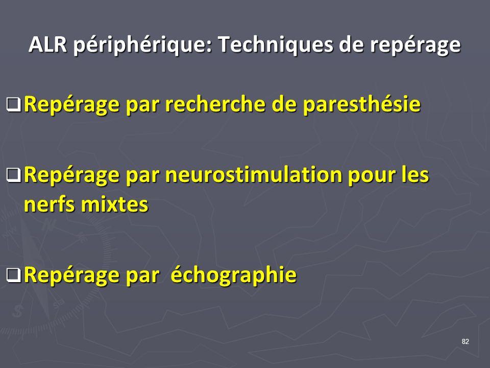 ALR périphérique: Techniques de repérage