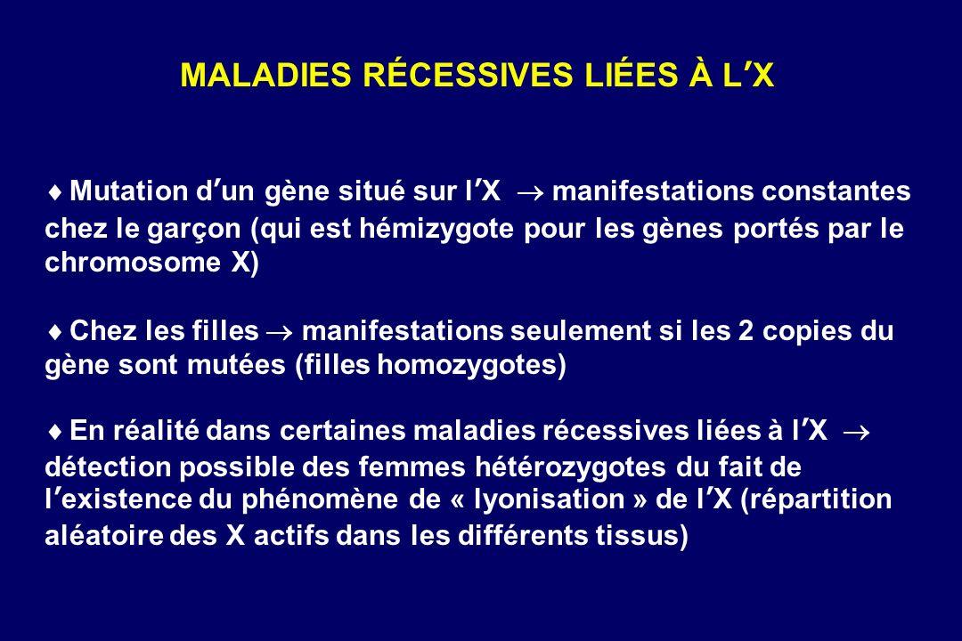 MALADIES RÉCESSIVES LIÉES À L'X