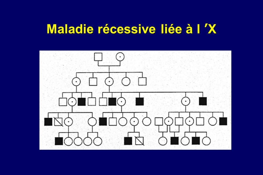 Maladie récessive liée à l 'X