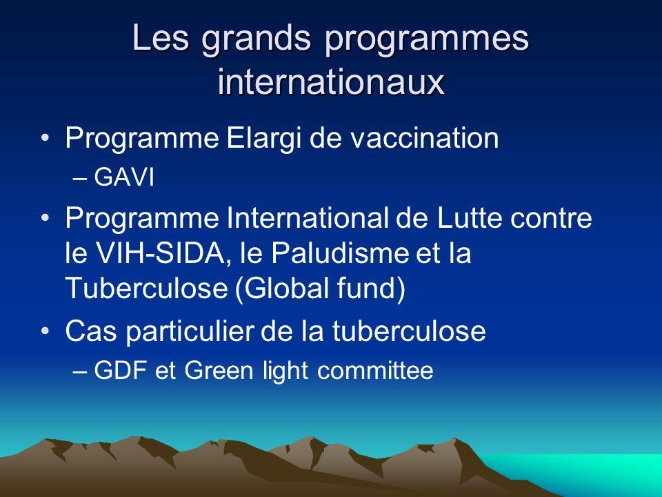 Les grands programmes internationaux